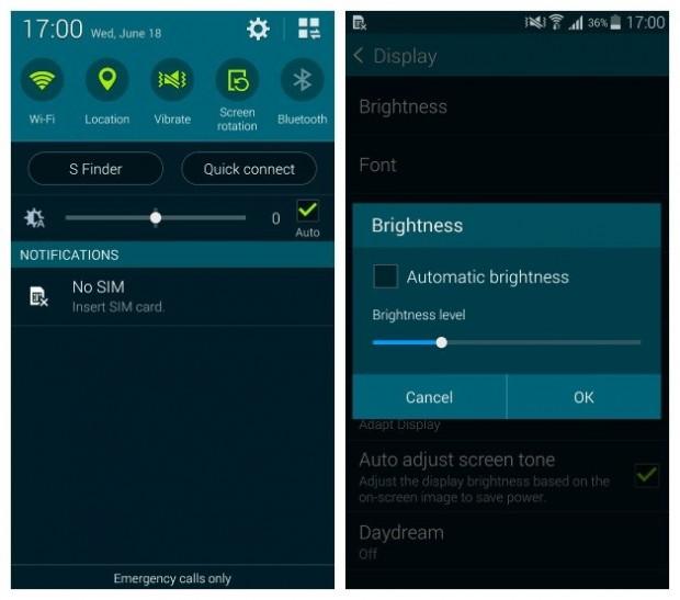 AndroidPIT-Galaxy-S5-Auto-Brightness
