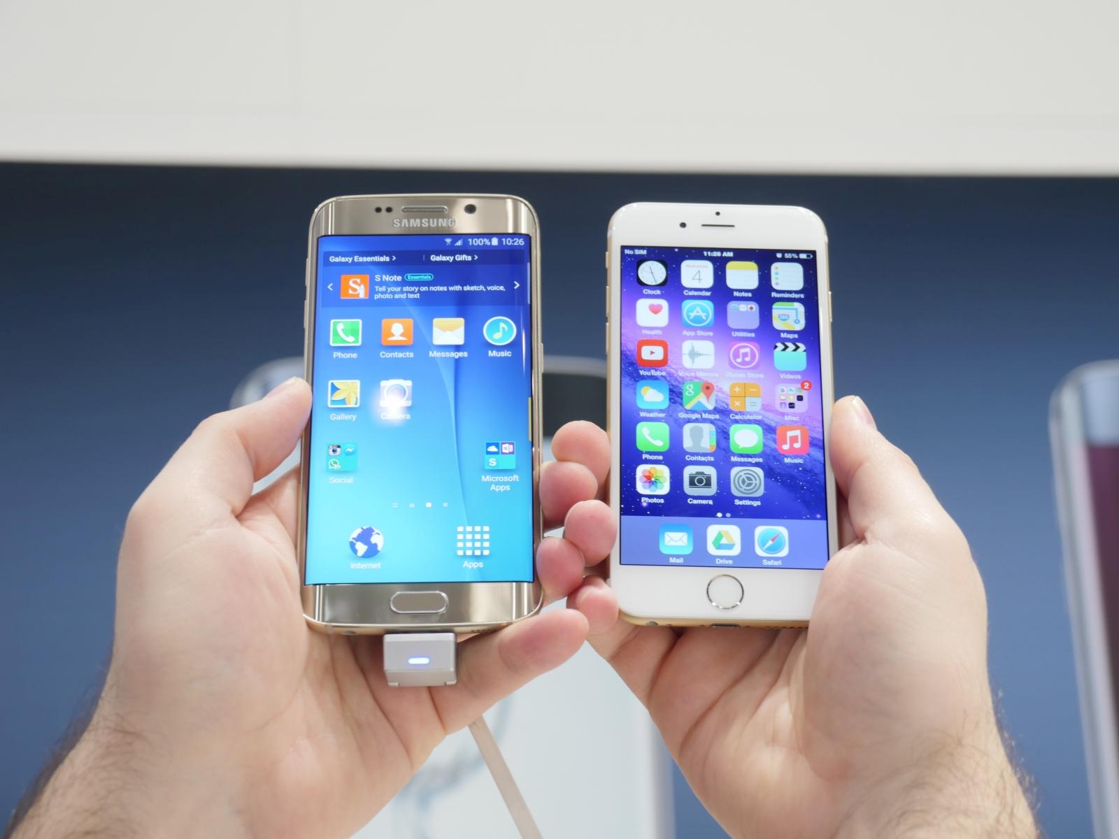 Galaxy S6 Edge İphone 6 'yı geride bıraktı!