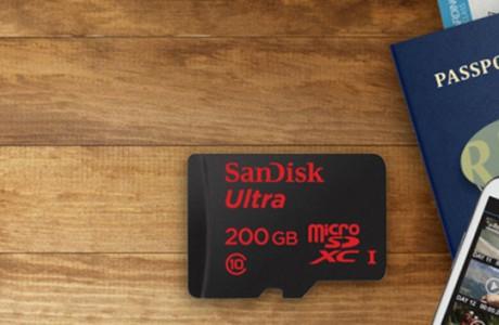 SanDisk 200 GB'lık microSD Duyurdu