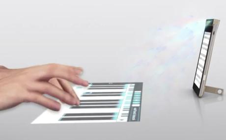 Lenova'dan Dünyanın İlk Lazer Projeksiyonlu Klavye Kullanan Akıllı Telefonu!
