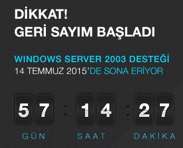 Windows 2003 Server Desteği 14 Temmuz'da Sona Eriyor!