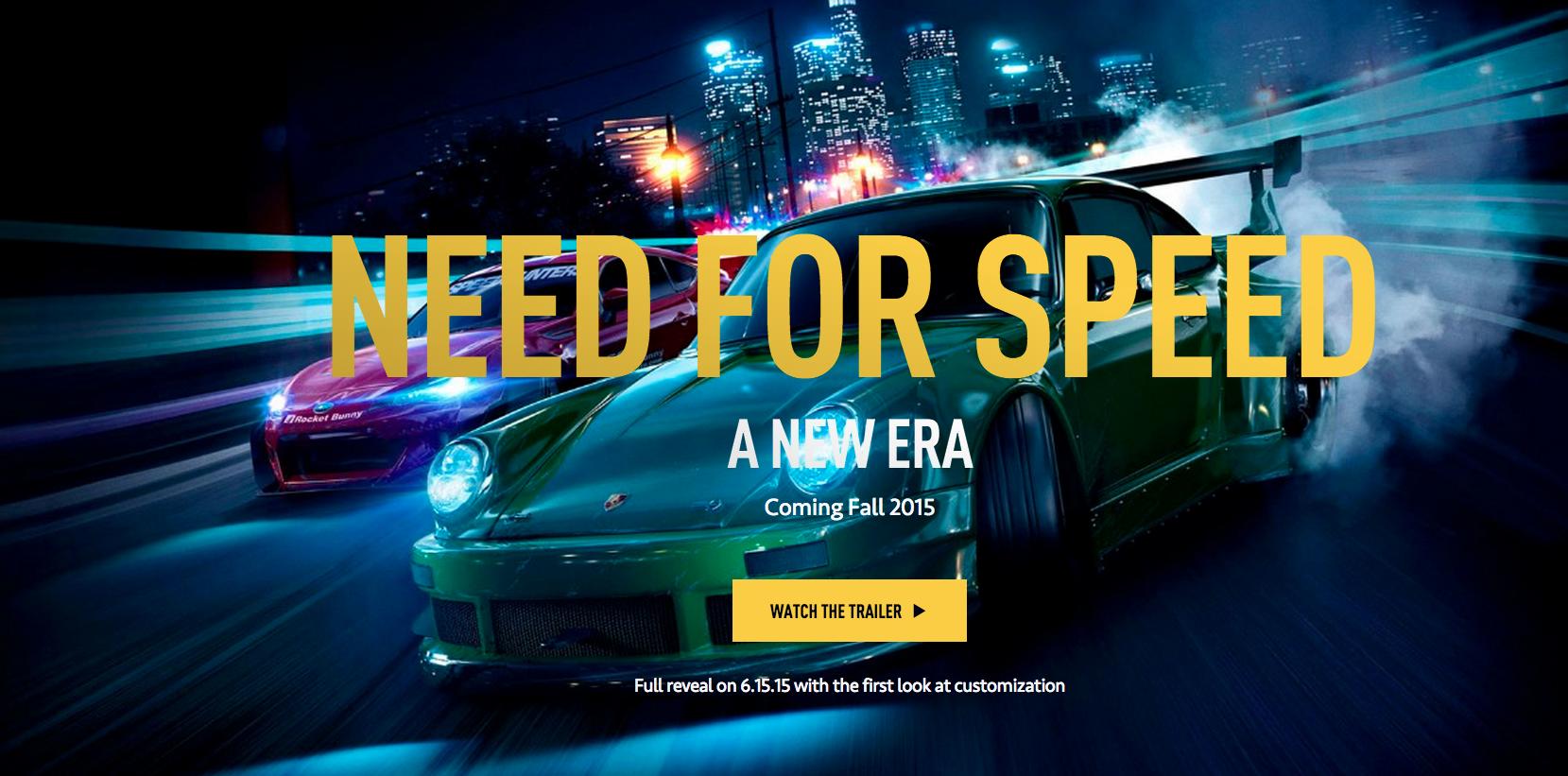 Need For Speed ilk Teaser Yayınlandı!