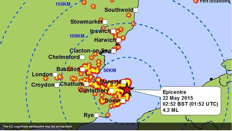 İngiltere Küçük Bir Deprem'le Sarsıldı! Twitter 'dan Espriler Başladı!