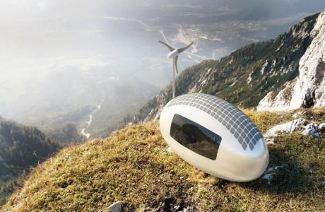 Rüzgar ve Güneş Enerjisi ile Çalışan Ev! Ecocapsule!