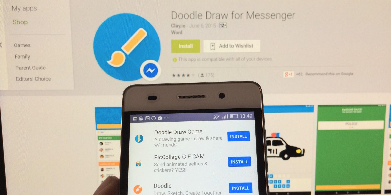 Facebook Messenger Oyun Zamanı! Doodle Draw !