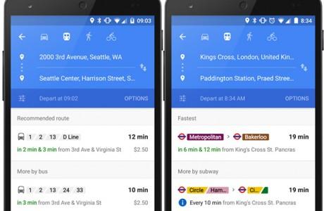Google Maps Gerçek Zamanlı Toplu Taşıma Bilgisi Vermeye Başlıyor