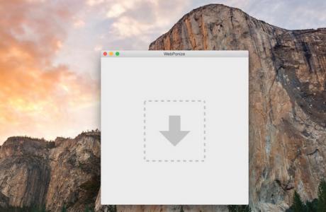 WebPonize Mac Kullanıcıları için Resimleri otomatik WebP Formatına Dönüştürüyor