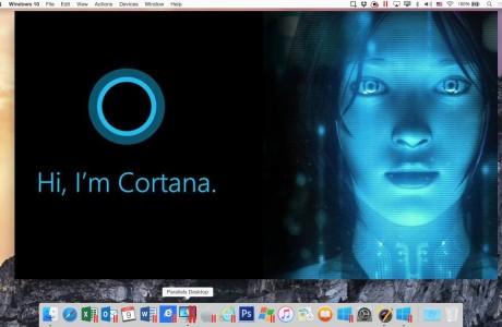 Paralel Desktop 11 : Mac'lere Siri'den önce Cortana Geldi