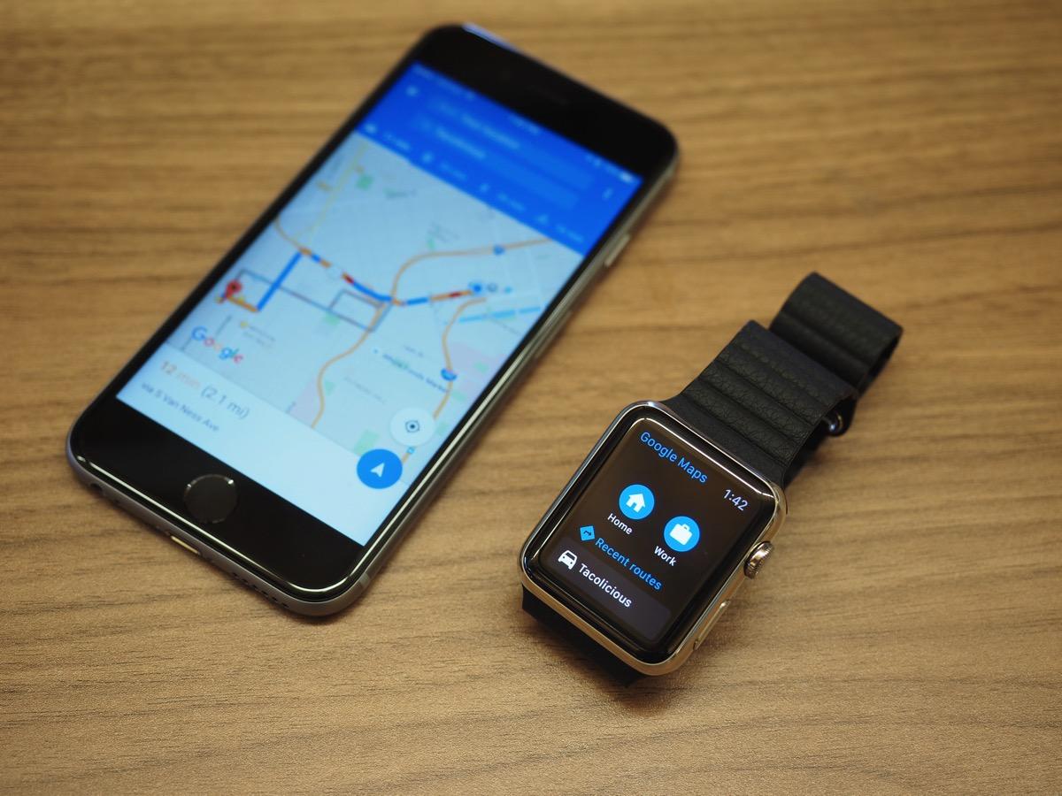 how to get googlemap on apple watch