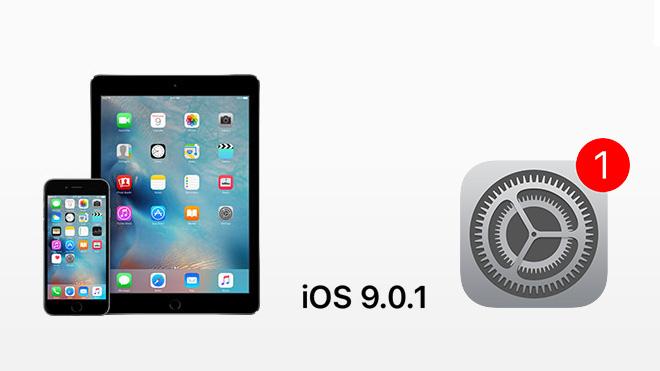 iOS 9.01 Güncellemesi Yayınlandı