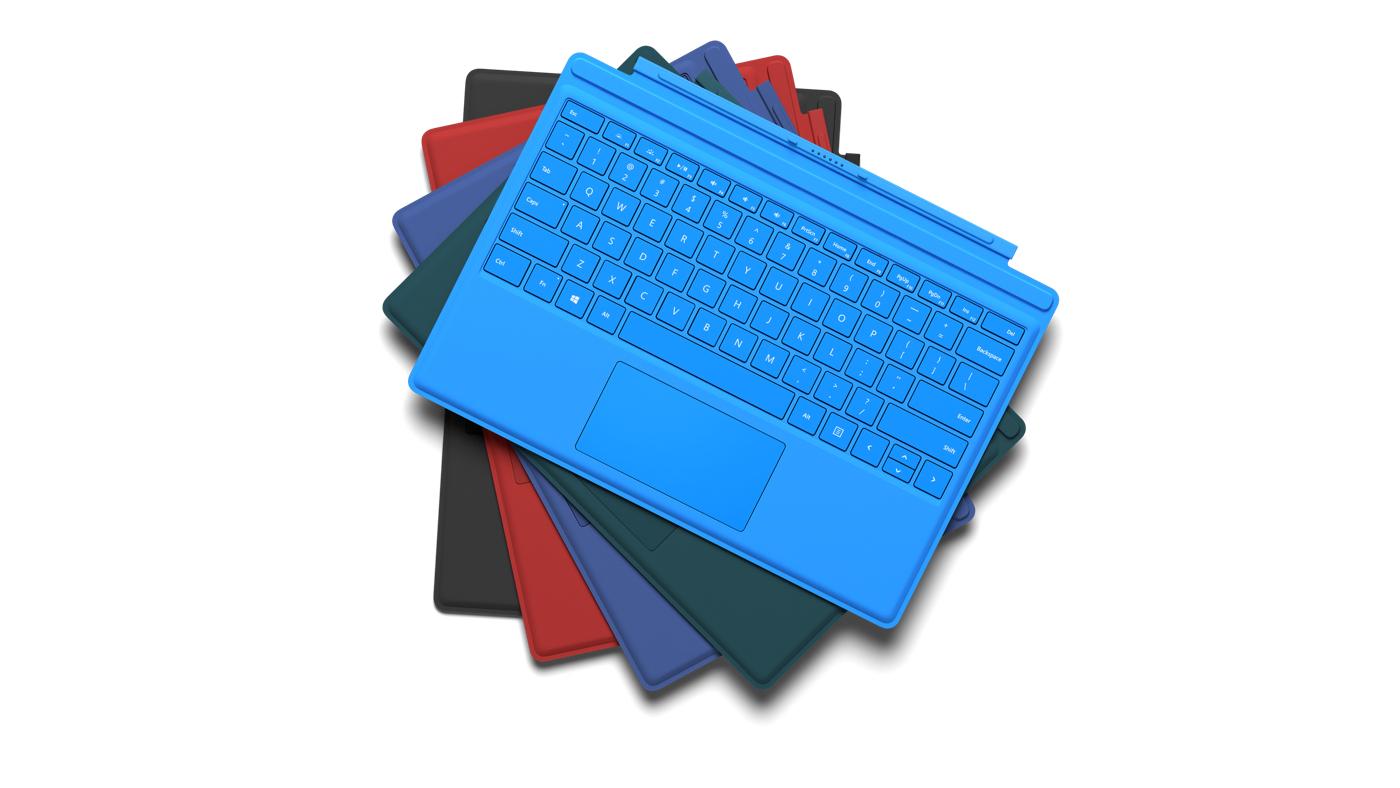 Microsoft Surface Pro Type Cover : 6 Renk Seçeneği