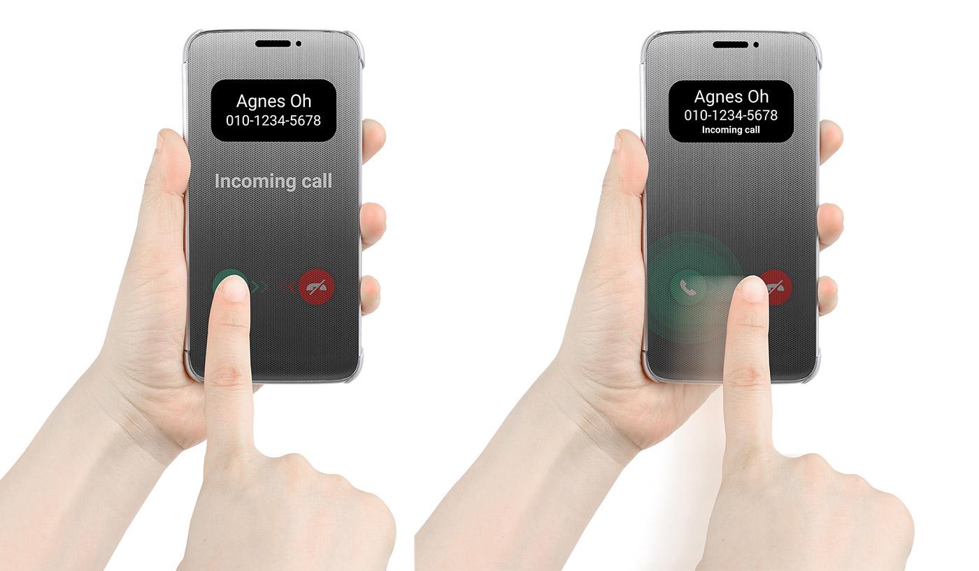 LG G5 Dokunmatik Quick Cover Case