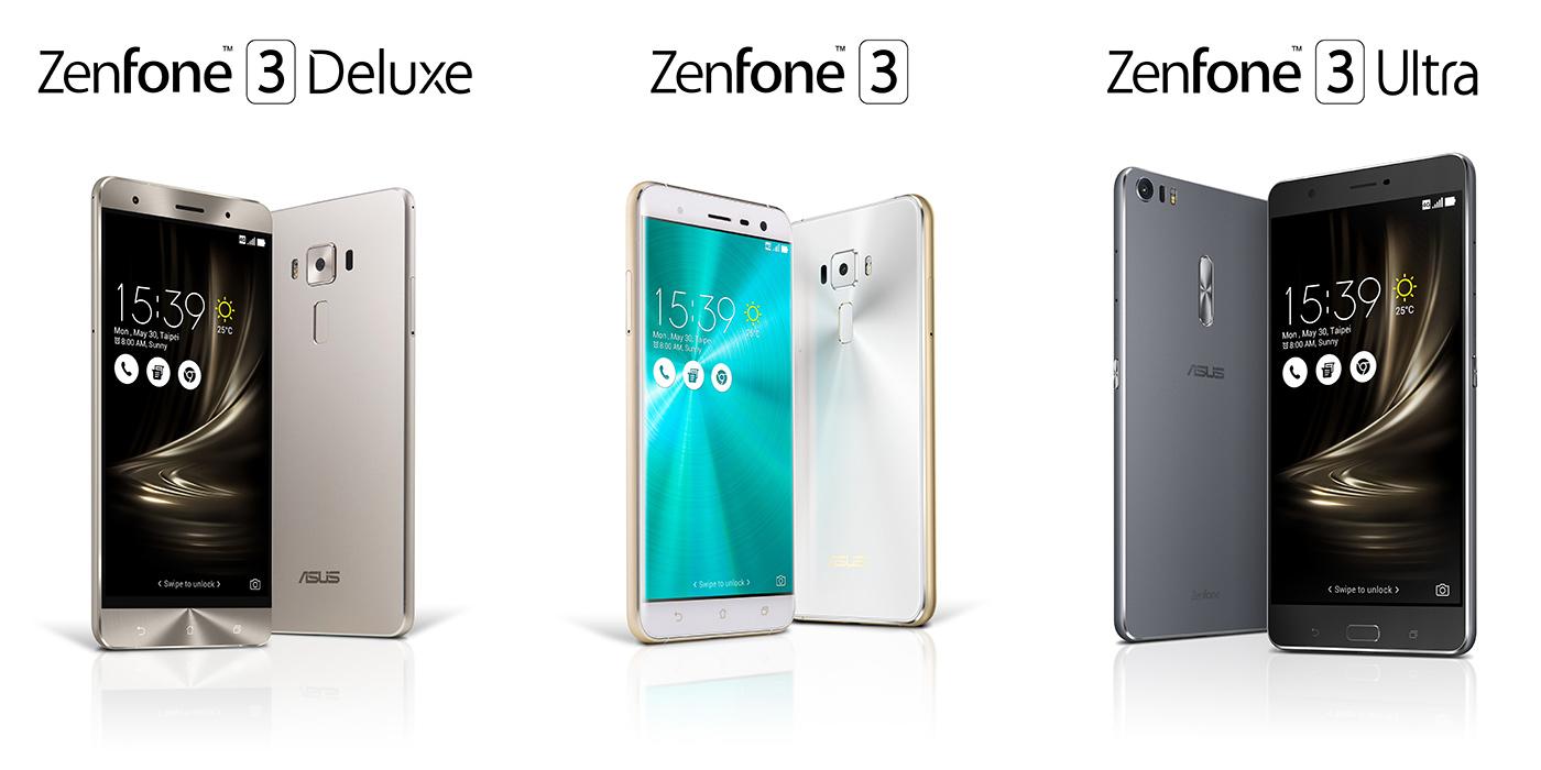 ASUS ZenFone 3, ZenFone 3 Deluxe ve ZenFone 3 Ultra
