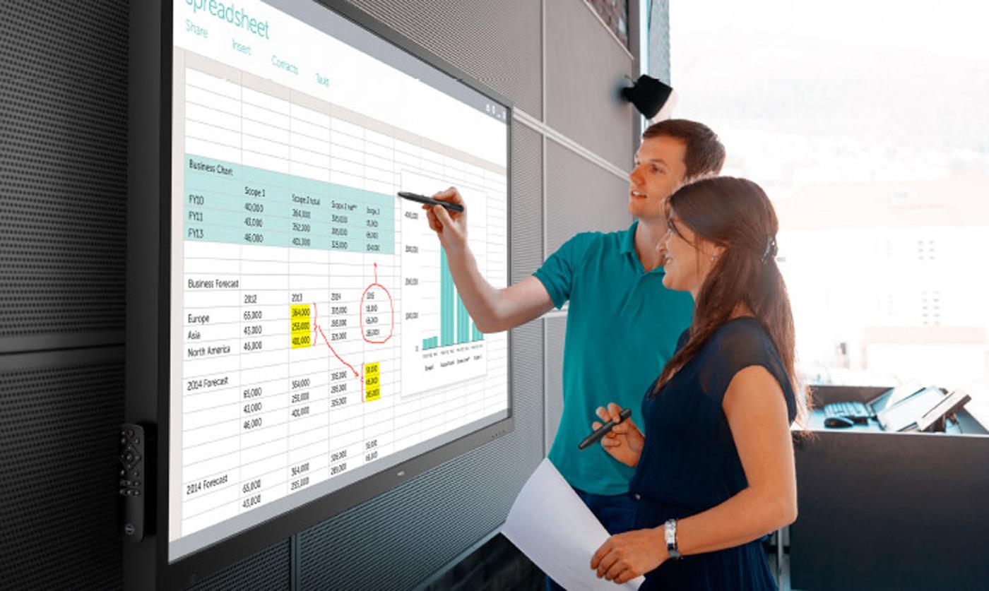 Dell Okullar için 70-inçlik Dokunmatik Ekran Yaptı