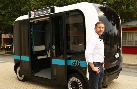 Elektrikli Sürücüsüz ve 3D Baskılı Otobüs Olli!
