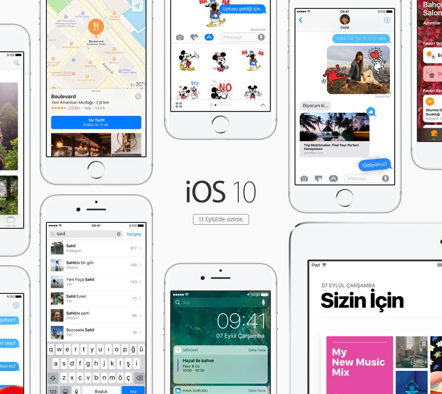 Bütün Yeni Özellikleri ile iOS 10