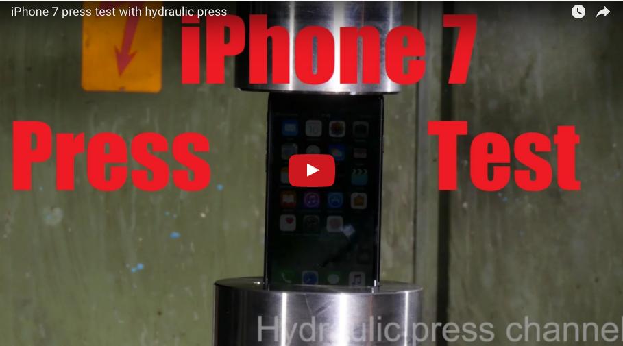 iPhone 7 Hidrolik Pres Testi, Yok Artık!