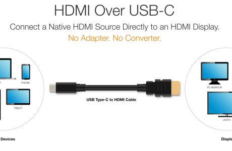 Adaptör ve Dönüştürücüye Son ! Yeni USB-C to HDMI Kablosuna Hazır Olun!