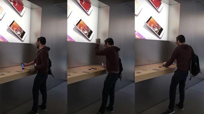Fransız Genç Apple Store'da Cihazları Parçaladı!