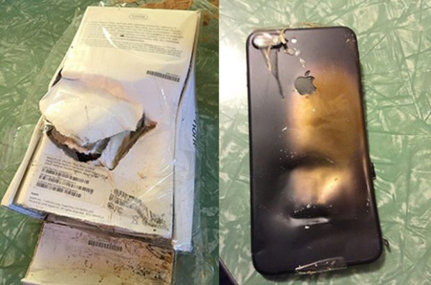 iphone-7-patladi ilk patlayan iPhone 7