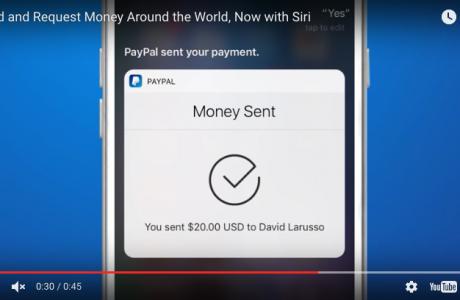 Siri PayPal ile Para Transferi Yapabilecek