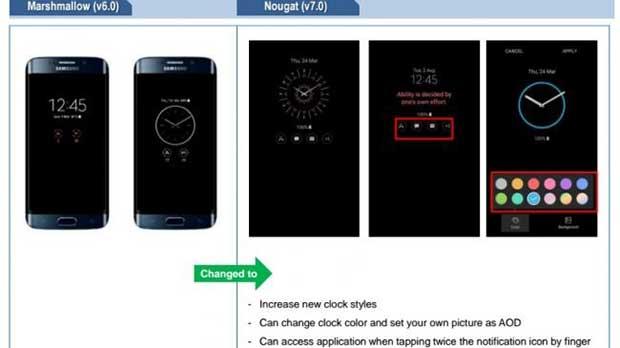 android nougat güncelleme galaxy s7 galaxy s7 edge