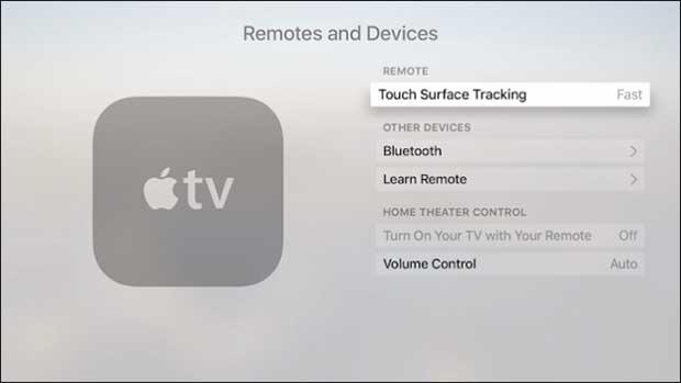 apple tv kumanda hız ayarı