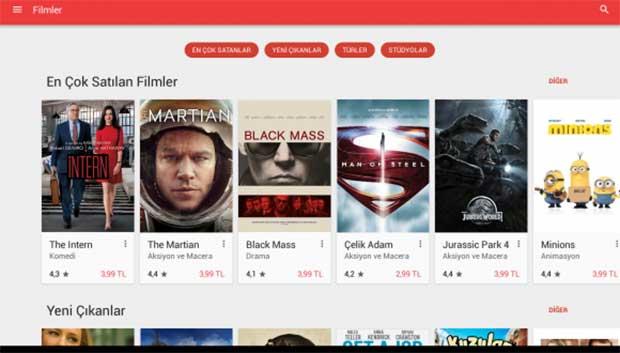Google Play Filmleri Artık 4K