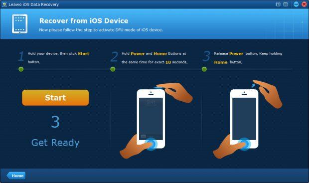 recover-from-device-start-dfu-mode iPhone Üzerinde Silinmiş Verileri Kolayca Kurtarın!