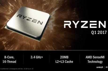 AMD Ryzen, Zen Mimarili Masaüstü İşlemcisi Karşımızda!