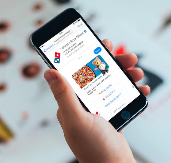 Dominos Pizza Facebook Messenger üzerinden Sipariş Devri Başladı