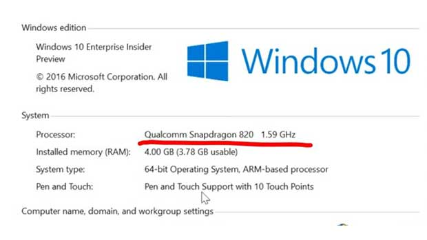 Snapdragon İşlemcilerle Çalışan Windows 10 Bilgisayarlar Geliyor