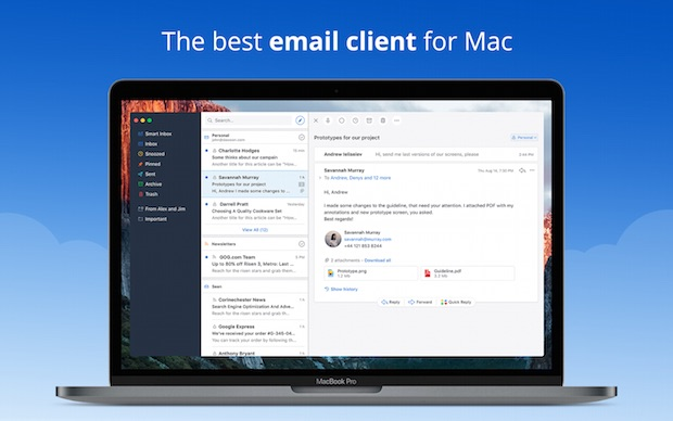 Mac için Ücretsiz e-Posta Uygulaması SPARK, Deneyin!