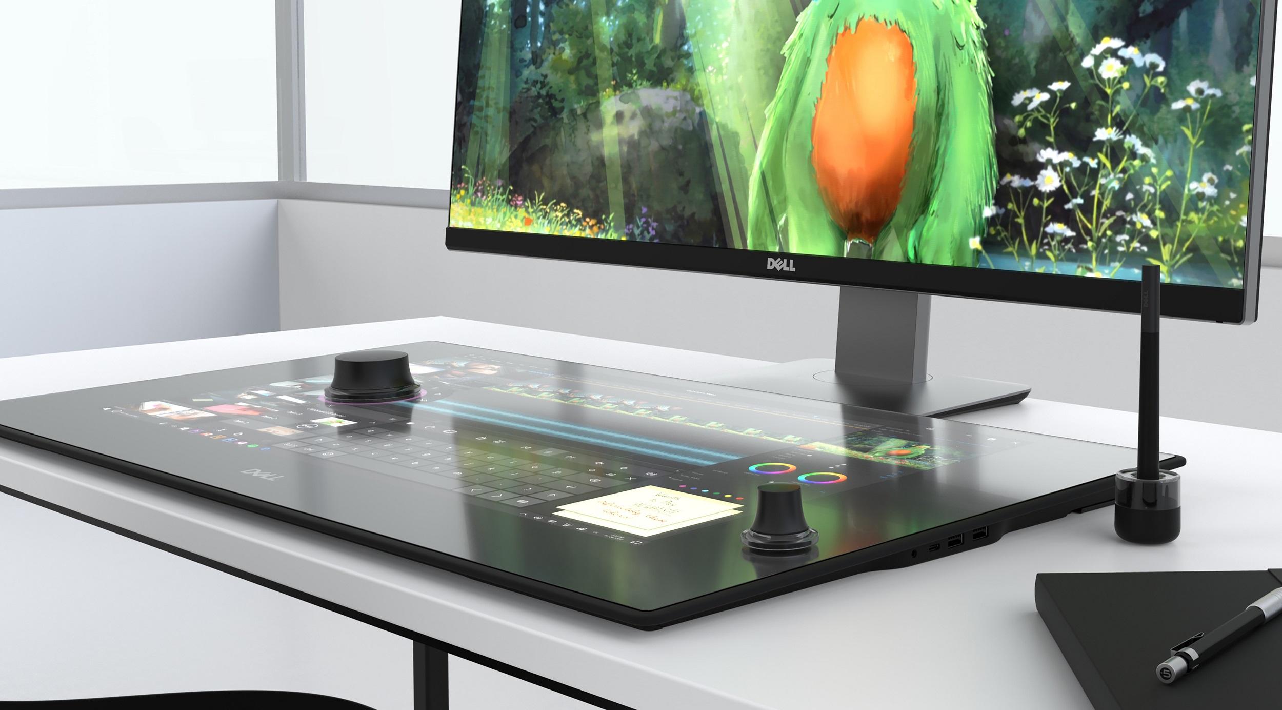Dell Canvas 27, Dokunmatik Akıllı Çalışma Alanı Sunuyor