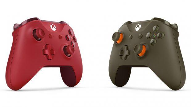 Microsoft'tan Kırmızı ve Ordu Yeşili Xbox GamePad