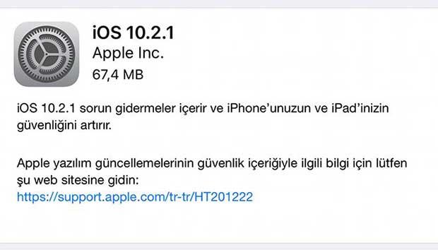 Apple iOS 10.2.1