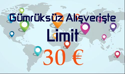 2017 Gümrüksüz Alışveriş Limiti 30 Euro, Yurtdışı Alışverişinde Yeni Limit!
