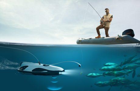 PowerRay Sualtı Drone ile Balıkların Hiç Şansı Yok, 4K Kayıtta Cabası