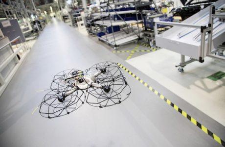 Audi Üretiminde Drone'lar En Büyük Yardımcı, Otomobil Üretiminde Drone!