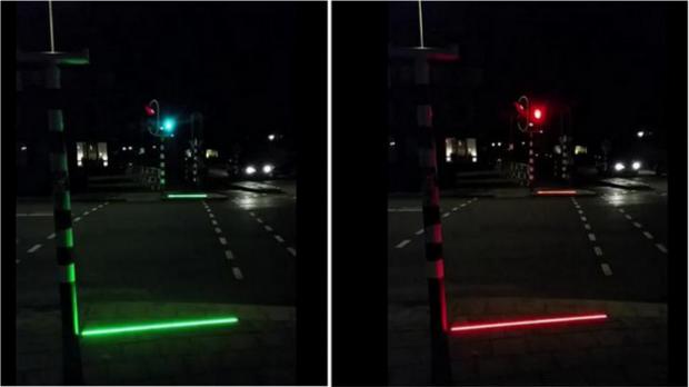 Dalgın Telefon Kullanıcıları için Yaya Geçitlerine Işıklı Çizgiler Eklendi