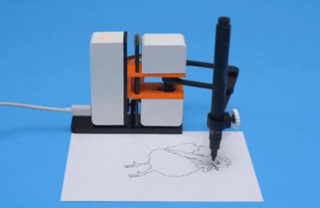 Sevimli Çizim Robotu Line-US, Yaptığınız Her Şeyi Anında Çiziyor!