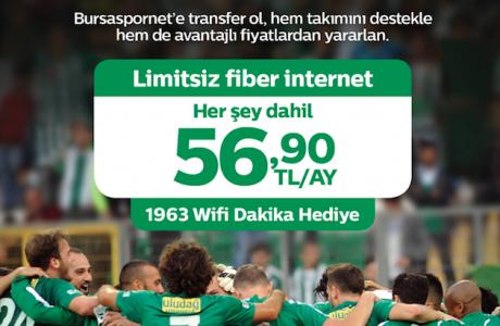 Türk Telekom BursaSporNet, Bursaspor'lulara Özel Evde İnternet Paketi