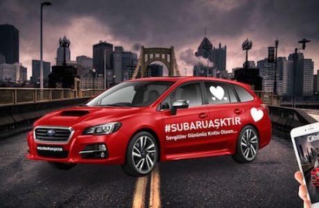 """Aşkın Rengi Kırmızıdır, Subaru Levorg'da ise """"Ateş Kırmızı"""""""