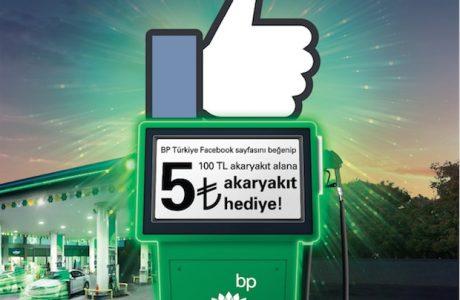BP'den Like ile Çalışan Pompa Kampanyası! 5 TL Hediye!