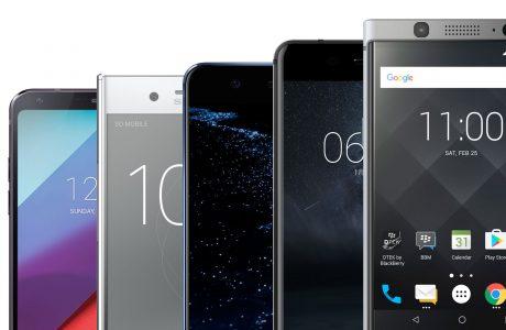 MWC 2017'nin En iyi Akıllı Telefonlarının Karşılaştırılması, Çoğunlukla Ekranların!