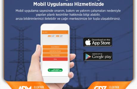 ADM ve GDZ Elektrik Dağıtım Mobil Uygulaması, Hemen İndir!