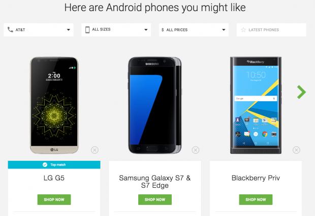 Google'dan Android Akıllı Telefon Seçme Sihirbazı