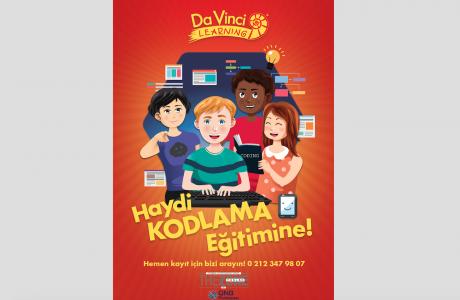 Da Vinci Learning'in Ücretsiz Kodlama Eğitimleri Çocuklara Özel Başlıyor