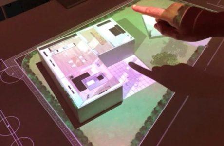 Ekransız Dokunmatik Ekran, Sony'nin Dokunmatik Projektör Teknolojisi