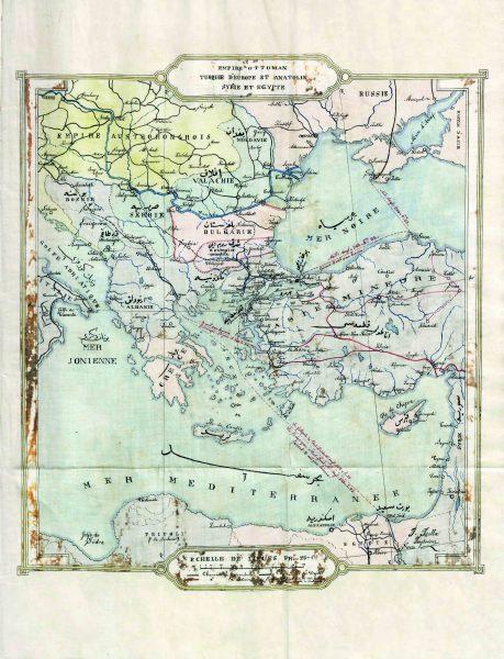 138 yıl önce Çanakkale Köprüsü Demiryolları Haritası